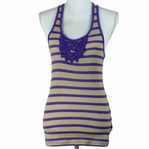 Lei Racer back striped tank top